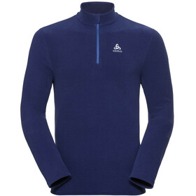 Odlo Roy 1/2 Cremallera Midlayer Hombre, sodalite blue-diving navy-stripes